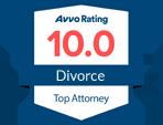 AVVO Rating 10.0 Divorce Top Attorney